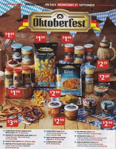 Aldi Oktoberfest Supplies